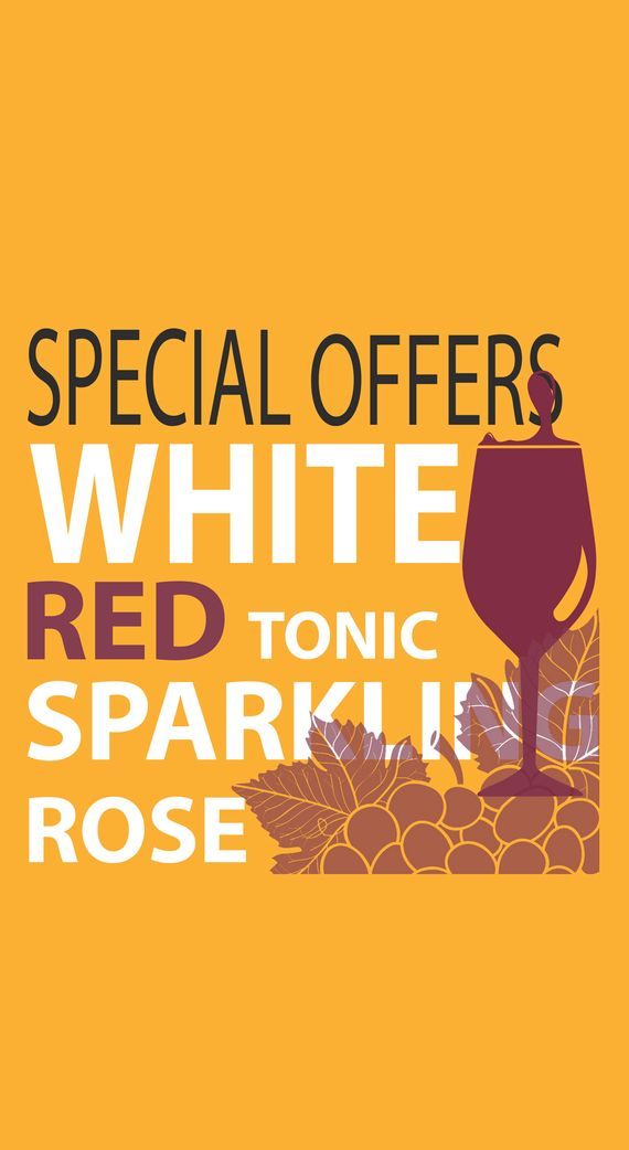 special offers title for red, white and rose wine