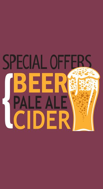 special offers on beer, ale and cider